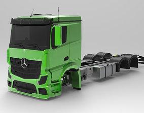 Mercedes Actros 2017 6x4 3D model