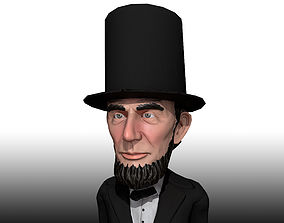 Abraham Lincoln low poly rigged caricature 3D asset