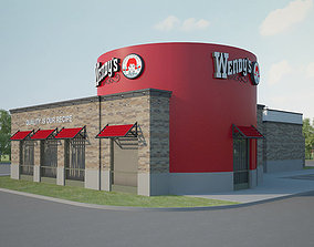 3D model Wendys Restaurant 02