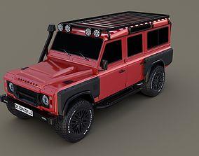 3D model Land Rover Defender 110 Custom v2