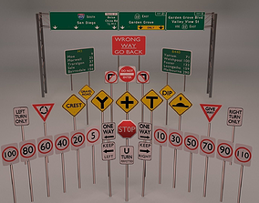 36 street sign Package 3D