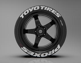 3D model 7Twenty Style 49 Rims and Tyres