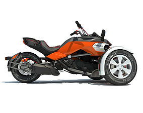 3D Orange Chopper Can-Am Spyder