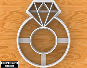 Diamond Ring Cookie Cutter 3D printable model