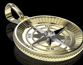 3D printable model Nautical Star Compass Pendant