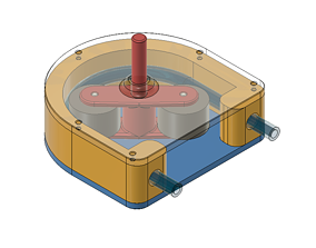 Hose pump volumetric pump 3D printable model