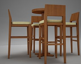 3D model low-poly bar table