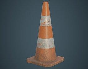 3D asset Traffic Cone 4B