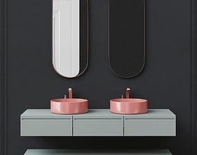 Washbasins Furniture 3d model game-ready