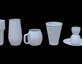 Glass Model Pack - 5 Piece 3D