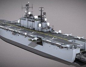 game-ready USMC Assault Carrier 3D Model