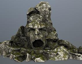 rock gate 3D model low-poly