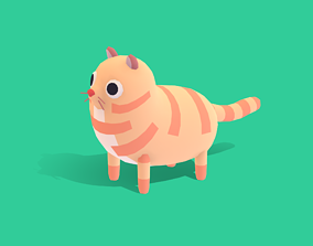 3D asset Meelo The Cat - Quirky Series