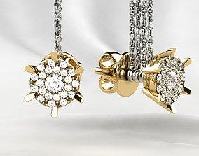 3D printable model Fashion Stud Golden Earrings