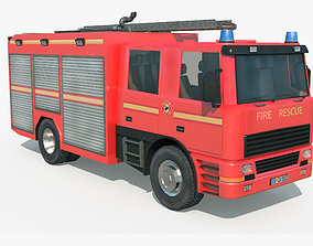3D asset Fire Truck - Rescue Machine