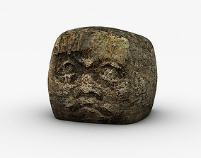3D model Ancient stone head