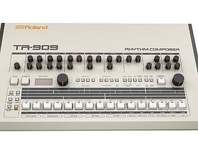 3D model Roland TR 909 Rhythm Composer