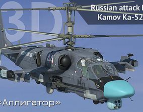 animated 3D model Russian attack helicopter Ka-52 Hokum 1
