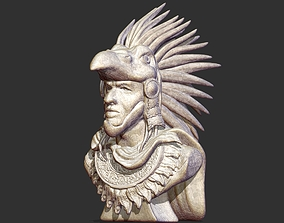 3D printable model Aztec Warrior Bust