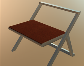 Kids reading Table 3D asset game-ready