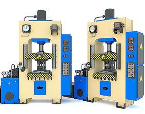 Industrial machine tool hydraulic press D2430B 3D model