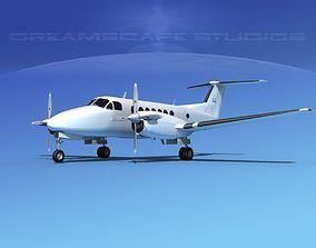 3D Beechcraft 350 King Air Bare Metal