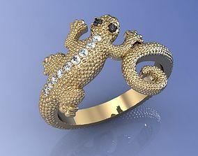 Ring Lizard 01 3D print model