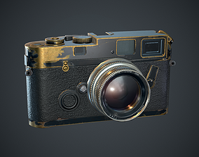 old style photo camera 3D asset