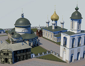 Temples of the Vlasyevsky parish 3D asset