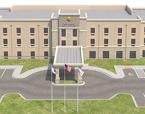 3D model Commercial Building-027 Comfort Inn and Suites 2