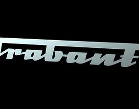 3D model Trabant Font Emblem Logo