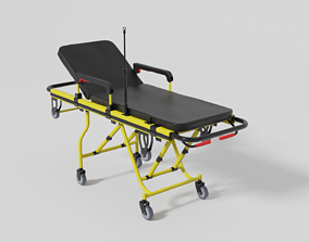 Emergency ambulance stretcher 3D model