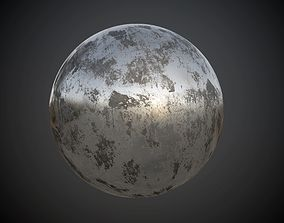 3D Metal Rusted Painted Seamless PBR Texture