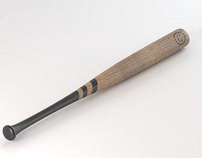 Wooden Baseball Bat 3D