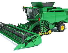 Tracked Combine Harvester agri 3D model