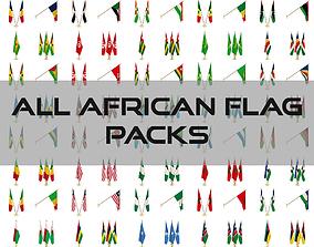 3D model All African Flag Packs
