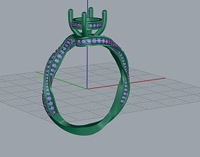 solitaire ring 3D printable model jewellery