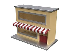 Small Pop Up Shop 3D asset