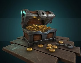 Treasure chest 3D asset low-poly