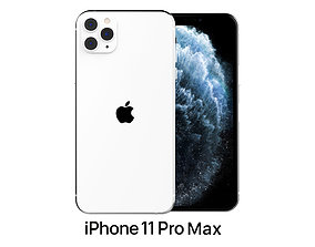 touch 3D model Apple iPhone 11 Pro Max Silver