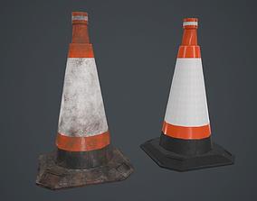 3D asset Roadhog Traffic Cone PBR Game Ready