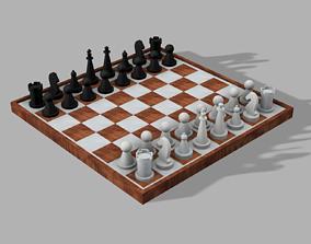 Chess set Satranc seti 3D print model
