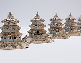 Interior Decoration Asian Temple 3D model