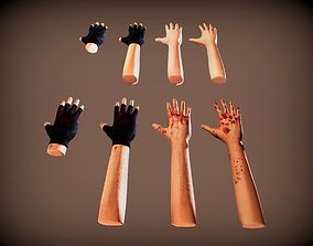 First Person Hands and Arms with 3D asset