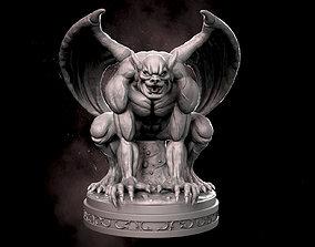 dark 3D printable model Gargoyle