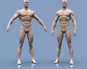 3D printable model Base mesh male body