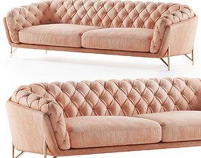 3D model Calia Italia sofa art nouveau