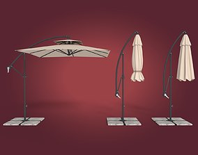 Deck Umbrella 4 3D asset