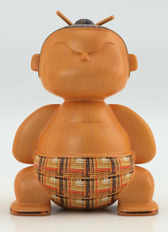 Mimushi - sumo fighter figurine