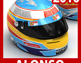 Helmet F1 2010 Fernando Alonso 3D